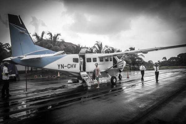 Linienflug mit 5 Passagieren