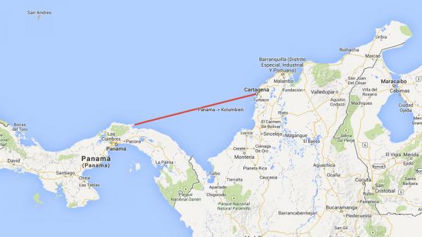 Die Durchfahrt zwischen den San Blas Inseln und Cartagena gilt wegen des starken Windes und der hohen Wellen von Dez.-Apr. angeblich zu einen der schwierigsten Passagen weltweit.
