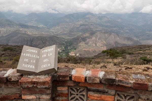 Der Blick von Barichara aus ins Tal nach Guane