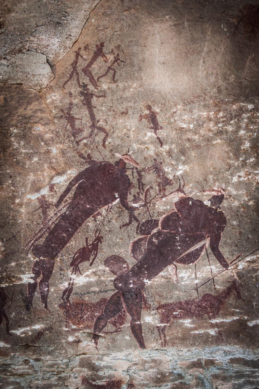 4.000 Jahre alte Felsmalereien der Buschmänner (San)