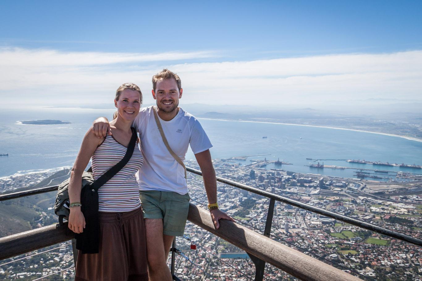 Die Aussicht vom Tafelberg ist noch schöner, wenn man ihn zu Fuß erklommen ist!