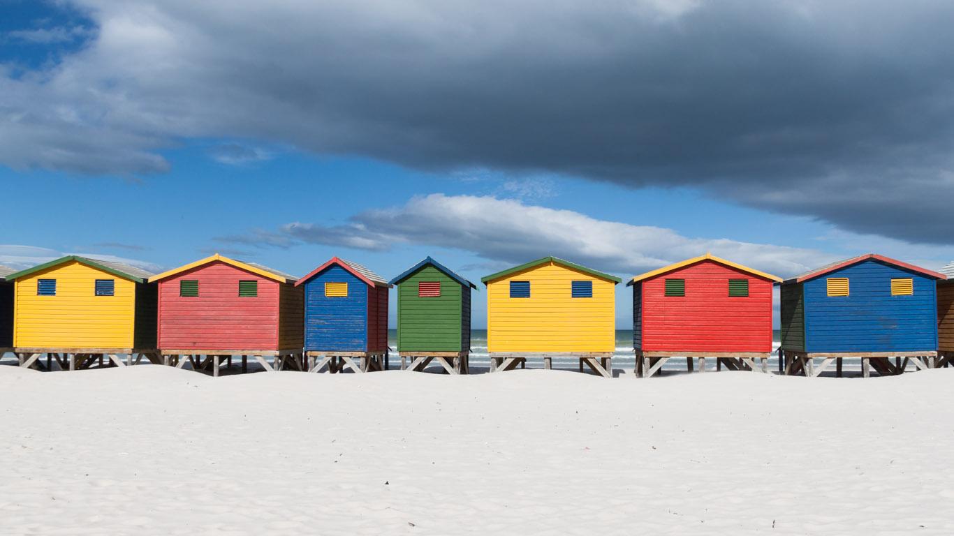 Umkleidekabinen des Muizenberg Beach